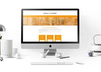 Website Kristall Apotheke 1230 Wien